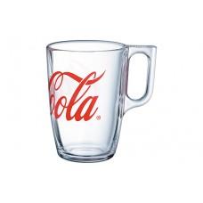 Glass Coca-Cola mug