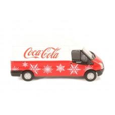 Diecast Ford Transit LWB High Coca Cola Xmas 1:76