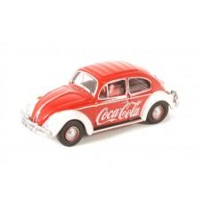 Diecast Volkswagen Beetle Coca Cola 1:76