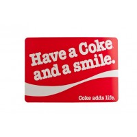 place mat 'Have a Coke and a Smile'