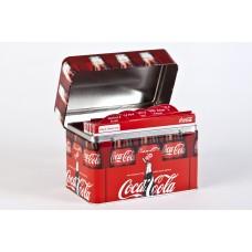 Coca-Cola receipe cards in metal box