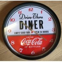 Coca-Cola wall clock Drive Thru Diner