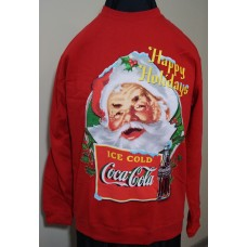 Coca-Cola Christmas Santa HAPPY HOLIDAYS sweater Red size LARGE