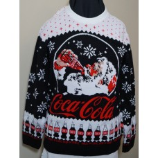 Black knitted Christmas Sweater SANTA size LARGE