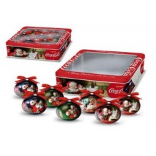 Box with 7 christmas balls / ornaments