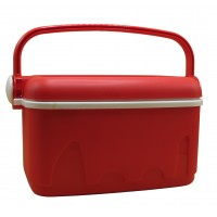 red cooler box carry-on