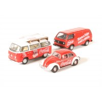 Diecast Volkswagen set of 3 cars 1:76