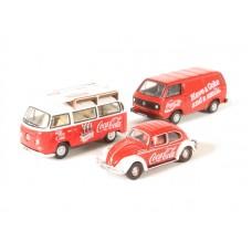 Diecast Volkswagen set of 3 cars 1:76