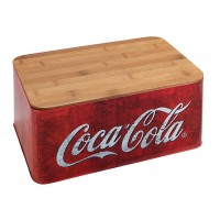 breadbox with bamboo cover red style
