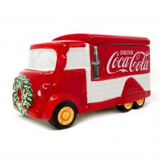 Coca-Cola Christmas cookie jar truck