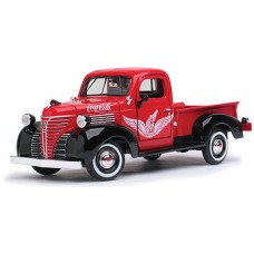 Diecast, 1941 Plymouth Pick up red 1:24