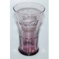 Coca-Cola purple flare glass McDonalds 2007