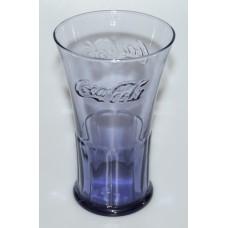 Coca-Cola dark blue flare glass McDonalds 2007