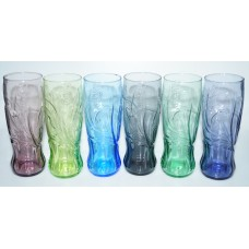 complete set of 6 Coca-Cola butterfly glasses McDonalds 2009