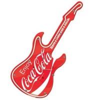 Coca-Cola guitar neon wall clock