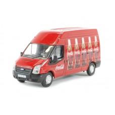 Diecast Coca-Cola Ford Transit LWB High Roof, bottle design scale 1:76