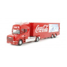 Diecast Coca-Cola Polar bear truck scale 1:76