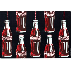 place mat 'bottles on black background'