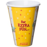 Coca-Cola popcorn cup yellow