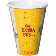 Coca-Cola popcorn cup yellow
