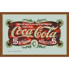 mirror DELICIOUS AND REFRESHING COCA-COLA