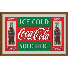 mirror ICE COLD COCA-COLA SOLD HERE