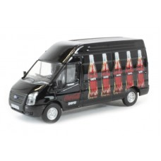 Diecast Coke Zero Ford Transit LWB High Roof, bottle design scale 1:76