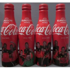 4 Bottle set Belgium National Soccer Team EURO 2016 Coca-Cola