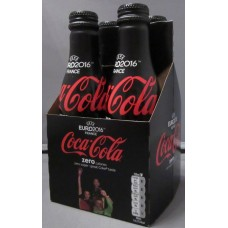 4 Bottle set Belgium National Soccer Team EURO 2016 Coca-Cola Zero