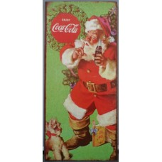 wooden sign Santa & Barking dog
