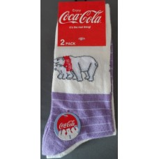 Polar bear Jeans socks white / purple' 2-pack size 39-42'