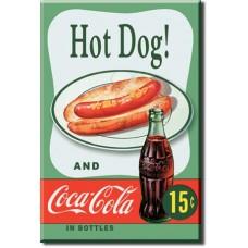 magnet hot dog' green background'