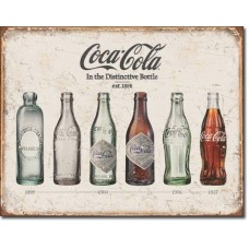 Metal sign Bottle history