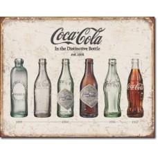 Metal sign Bottle history