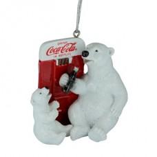 Resin Polar bear vending machine ornament