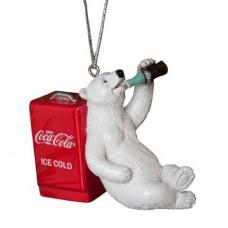 Resin Polar bear with cooler ornament