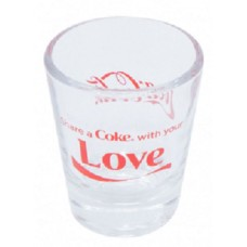 Share a Coke with Love shot glass