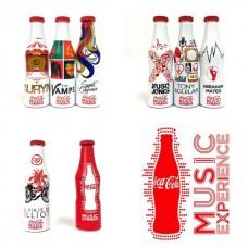 set of 8 mini aluminium bottles MUSIC EXPERIENCE