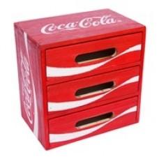 Wood crate desktop drawer box