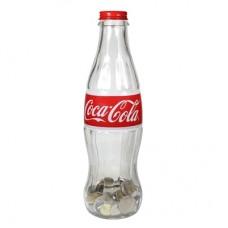 """12"""" glass Coca-Cola contour bottle bank"""