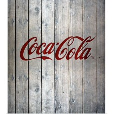 Coca-Cola glass splashback wood style